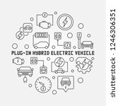 plug in electric vehicle round... | Shutterstock .eps vector #1246306351