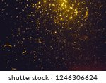 abstract gold bokeh form water... | Shutterstock . vector #1246306624