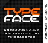 abstract alphabet typeface.... | Shutterstock .eps vector #1246308787