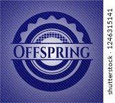 offspring emblem with denim... | Shutterstock .eps vector #1246315141
