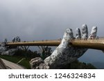 the golden bridge is lifted by... | Shutterstock . vector #1246324834