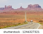 on the way to monument valley...   Shutterstock . vector #1246327321