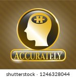 gold shiny emblem with head... | Shutterstock .eps vector #1246328044
