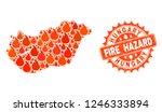 fire hazard collage of map of...   Shutterstock .eps vector #1246333894
