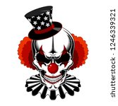 clown skull in a hat with stars ...   Shutterstock .eps vector #1246339321