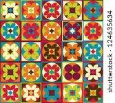 seamless geometric flower... | Shutterstock .eps vector #124635634