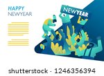 new year celebration rave party.... | Shutterstock .eps vector #1246356394