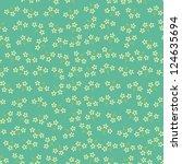 seamless vintage flower pattern ... | Shutterstock .eps vector #124635694