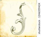 retro baroque decorations... | Shutterstock .eps vector #1246359424