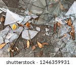 broken window in the street on... | Shutterstock . vector #1246359931