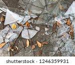 broken window in the street on... | Shutterstock . vector #1246359931
