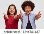 positive friendly looking...   Shutterstock . vector #1246361137