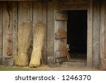 Stock photo door to anglosaxon house 1246370
