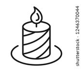 holiday candle icon. line style | Shutterstock .eps vector #1246370044