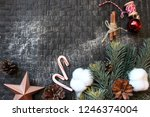 christmas. new year. flat lay... | Shutterstock . vector #1246374004