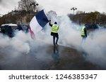 paris  france.  1st december... | Shutterstock . vector #1246385347