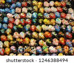 the colorful traditional... | Shutterstock . vector #1246388494
