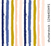 hand drawn striped seamless... | Shutterstock .eps vector #1246403491