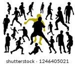 vector silhouette set of... | Shutterstock .eps vector #1246405021