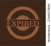 expired retro wooden emblem | Shutterstock .eps vector #1246423864