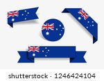 australian flag stickers and...   Shutterstock .eps vector #1246424104