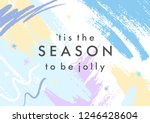trendy holidays poster with... | Shutterstock .eps vector #1246428604