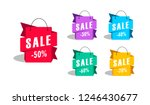 sale shopping bags as promotion ... | Shutterstock .eps vector #1246430677