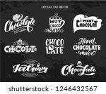Chocolate Set Icon. Logotype ...