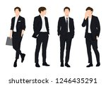 vector of young businessman ... | Shutterstock .eps vector #1246435291