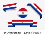 paraguayan flag stickers and... | Shutterstock .eps vector #1246444084