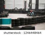 karting championship. driver in ... | Shutterstock . vector #1246448464
