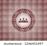 business teamwork icon inside... | Shutterstock .eps vector #1246451497