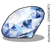 diamond blue color isolated on... | Shutterstock .eps vector #1246452871