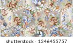 colorful digital wall tile...   Shutterstock . vector #1246455757
