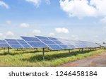 rows array of polycrystalline... | Shutterstock . vector #1246458184