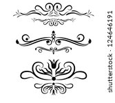 calligraphic elements set | Shutterstock .eps vector #124646191