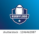 rugby logo template | Shutterstock .eps vector #1246462087