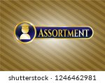 gold badge with graduation... | Shutterstock .eps vector #1246462981