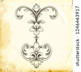 retro baroque decorations... | Shutterstock .eps vector #1246463917
