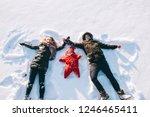 winter family sled baby | Shutterstock . vector #1246465411