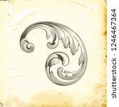 retro baroque decorations... | Shutterstock .eps vector #1246467364