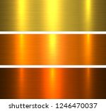 metal textures gold  brushed...   Shutterstock .eps vector #1246470037