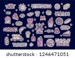 set of stickers and patches... | Shutterstock .eps vector #1246471051