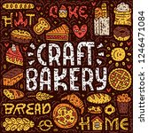 craft bakery lettering card.... | Shutterstock .eps vector #1246471084