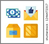 4 send icon. vector... | Shutterstock .eps vector #1246472317