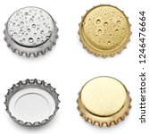 collection of  various bottle... | Shutterstock . vector #1246476664