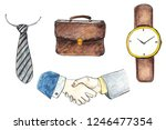 set of men's accessories and... | Shutterstock . vector #1246477354