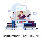 students watching recorded... | Shutterstock .eps vector #1246482241