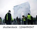 paris  france.  1st december... | Shutterstock . vector #1246494547