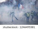 paris  france.  1st december... | Shutterstock . vector #1246495381
